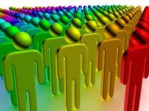 Colour people Stock Photo