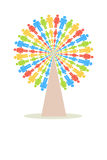 Colour People Tree vector illustration