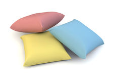 Colour pillows Royalty Free Stock Images