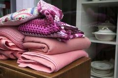 Colour Plaid Wool Knit Stock Images