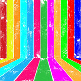 Colour planks interior Royalty Free Stock Image