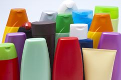 Colour plastic bottles sham Royalty Free Stock Image