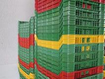 Colour plastic boxes Royalty Free Stock Photos