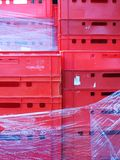 Colour plastic boxes Royalty Free Stock Images