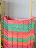 Colour plastic boxes Stock Photography