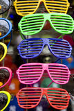 Colour plastic glasses Royalty Free Stock Images