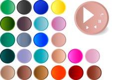 Colour player music icons Stock Photos