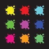 Colour pluśnięcia ustawiający Zdjęcia Stock
