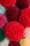 Colour Pom-poms Royalty Free Stock Photos