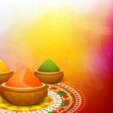 Colour powder in bowl for Holi Festival celebration. Stock Image