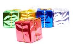 Colour present boxes Stock Photo