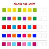 Colour pudełka Edukacyjna gra co przychodzi następnie edukaci Odliczająca sztuka dla Preschool dzieci wektor ilustracji
