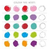Colour pudełka Edukacyjna gra co przychodzi następnie edukaci Odliczająca sztuka dla Preschool dzieci wektor royalty ilustracja