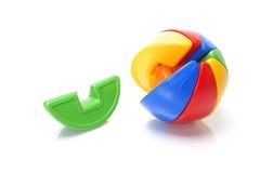 Colour puzzle ball. On white background Stock Photos