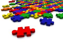 Colour puzzle - everything in focus Stock Image