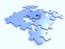 Colour puzzles Royalty Free Stock Image