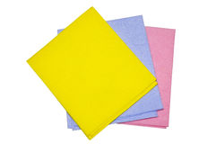 Colour rags. For cleaning and cleanliness in the house Royalty Free Stock Photos