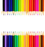 Colour Rainbow pencils isolated on white background. Back to sch Royalty Free Stock Photos