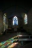Colour reflections in a little chapel. Colour reflections in a little rural chapel Stock Photography