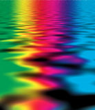 Colour reflexions on water Royalty Free Stock Photo