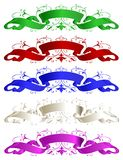Colour ribbons Royalty Free Stock Photo