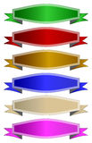 Colour ribbons Stock Photo