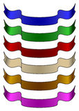 Colour ribbons Stock Photos