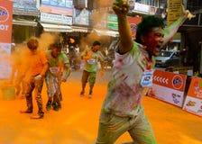 The Colour Run 2014 in Kathmandu Stock Photo