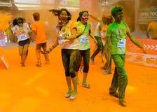 The Colour Run 2014 in Kathmandu Stock Photos