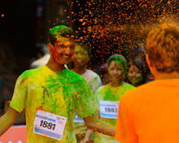 The Colour Run 2014 in Kathmandu royalty free stock images