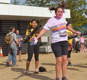 The Colour Run, London Docklands, September 2014 Royalty Free Stock Photography