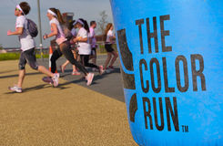 The Colour Run, London Docklands, September 2014 Royalty Free Stock Images