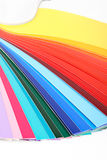 Colour sample book. Vertical guide of colours isolated Stock Photography