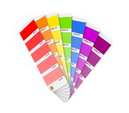 Colour sampler. Isolated on white background.3d rendered illustration Royalty Free Stock Images