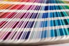 Colour sampler stripes Stock Photos