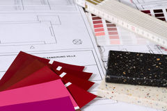 Colour samples for a building project Stock Photos