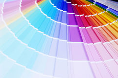 Colour scale. Colour guide for a seal on the printer Royalty Free Stock Images