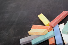 Colour school chalk Royalty Free Stock Photography