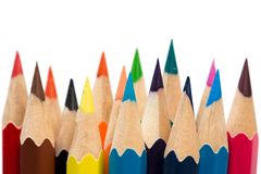 Colour sharpen pencils royalty free stock photo