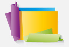 Colour sheets of paper Stock Image
