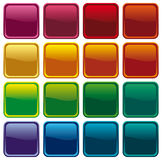 Colour shining buttons Stock Photography