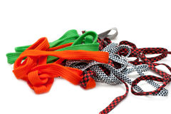 Colour shoelace Stock Photo