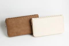 Colour skóry portfel Zdjęcie Stock