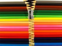 colour składu ołówków zamek błyskawiczny royalty ilustracja