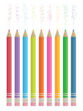 Colour sketching pencils Royalty Free Stock Images