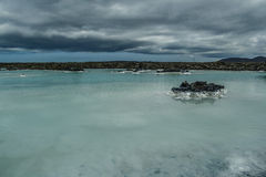 Blue Lagoon in Iceland. Blue lagoon- spa near international airport Keflavik, Iceland Stock Photography