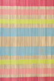 Colour small rug from bamboo Royalty Free Stock Photos