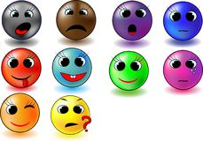 Colour Smileys Royalty Free Stock Photo