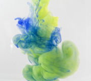 Colour smoke. And abstract art moment Stock Images