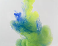 Colour smoke. And abstract art moment Royalty Free Stock Images